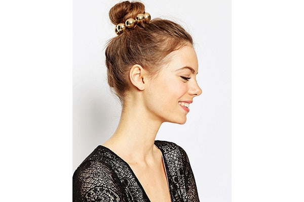 The classic top knot