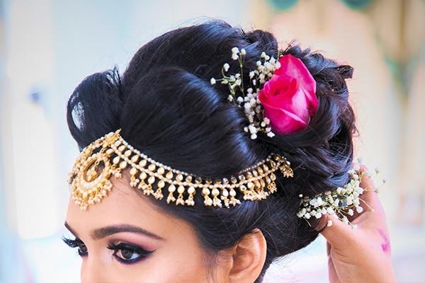 Bun Hairstyle Bridal Makeup