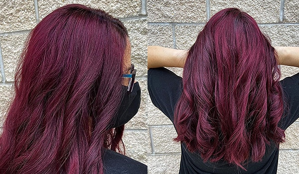 Burgundy is the hair colour of the season. Here's some hair-spiration for your next appointment