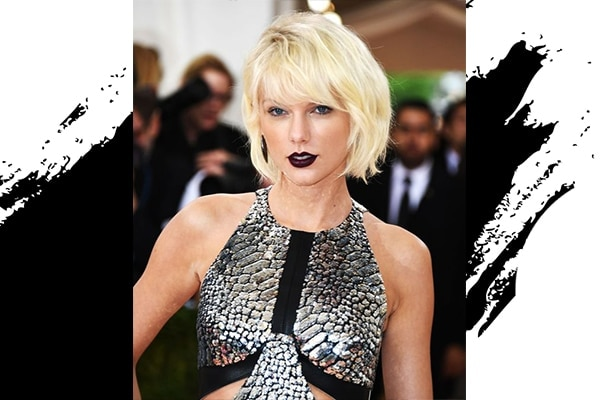 Taylor Swift's dark lipstick