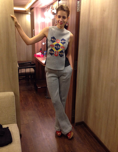 DECODING KALKI KOECHLIN'S FRESH OFF THE RUNWAY LOOK.