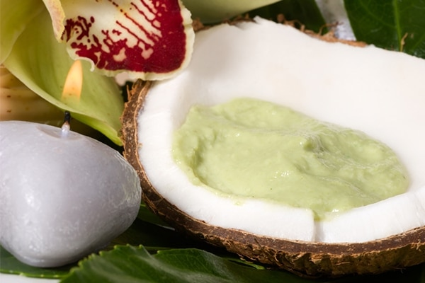Avocado and coconut oil face mask