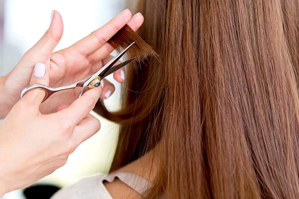 Chop off damaged hair