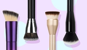 The correct way to apply foundation using a brush