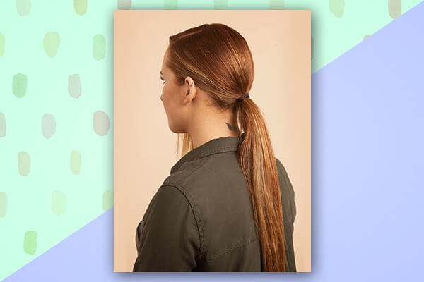 Go for a low ponytail