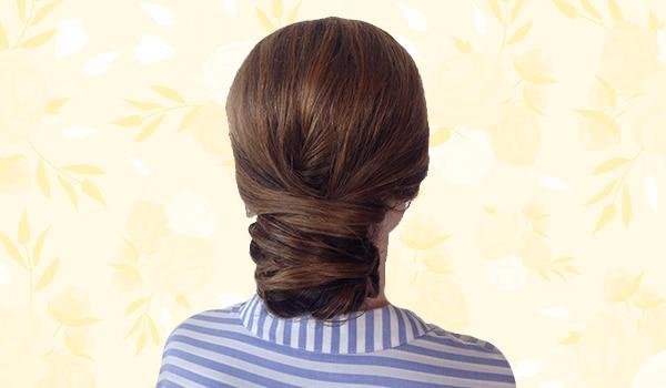 How to create an elegant criss-cross bun in a few easy steps