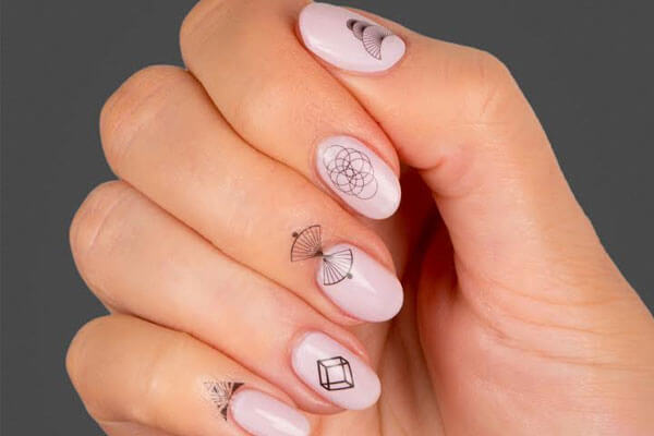 BB Nail Art Trend - Cuticle Nail Art