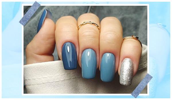 Denim inspired nails for the ultimate denim lover