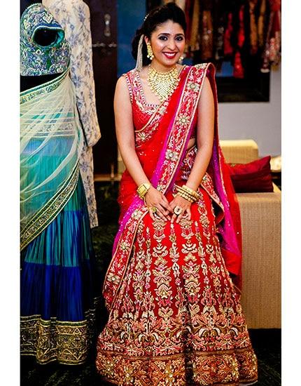 designer neelu oberoi styles bride to be phera lehenga 430x550