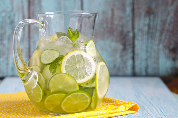 Drink a glass of detox water first thing when you wake up