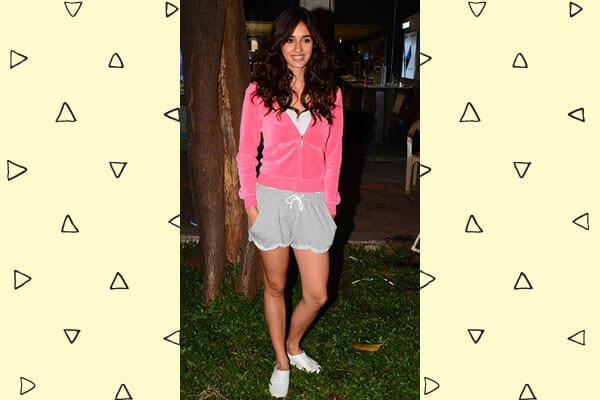 disha patani in gym shorts
