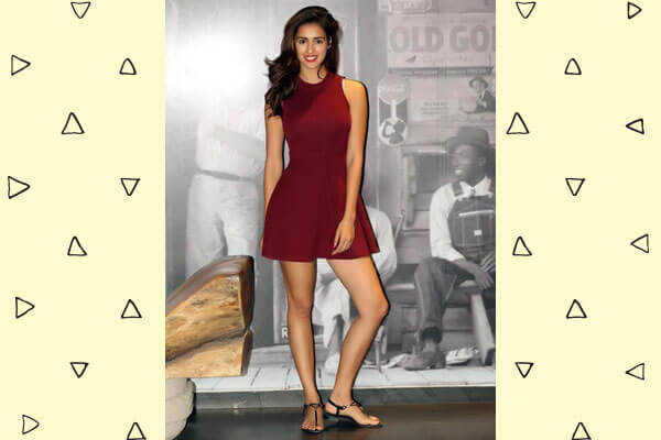 disha patani in skater dress