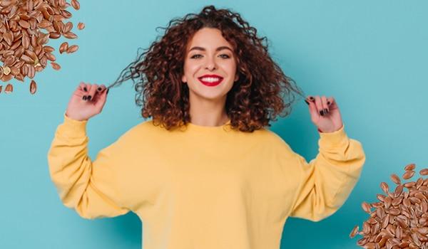 DIY flaxseed gel for defined curls