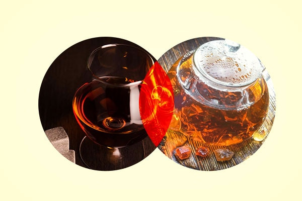 Rum and black tea mask for hair shedding