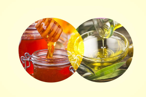 Honey and olive oil for dry and damaged hair