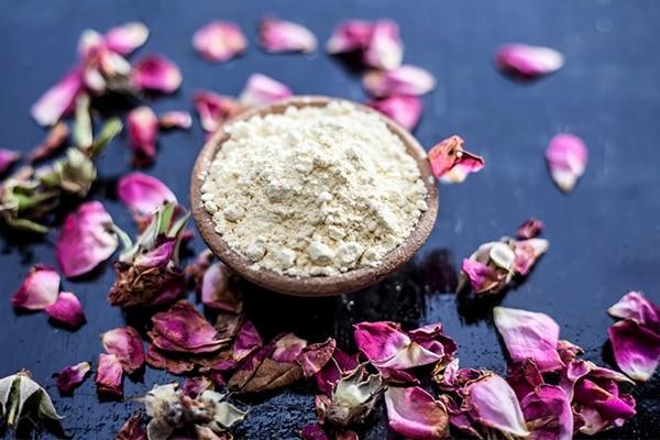 Gram Flour, Yogurt and Rosewater For Skin Lightening