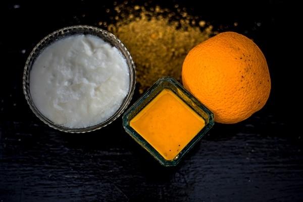 संतरे का छिलका और दही