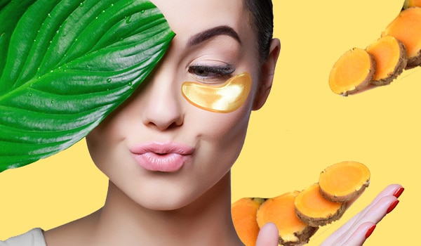 DIY turmeric under eye mask to get rid of dark circles