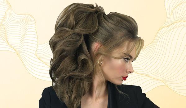Simple hack to fake a voluminous ponytail