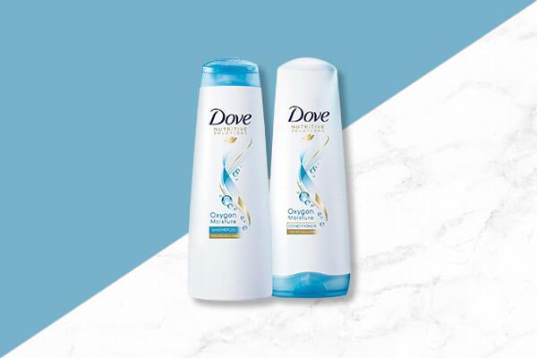 dove oxygen moisture shampoo and conditioner