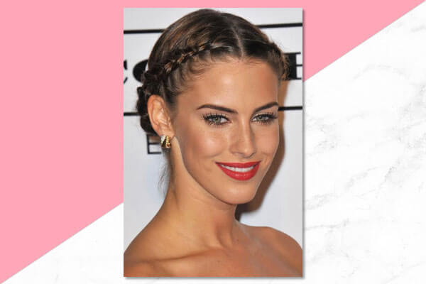 For shoulder length hair – the dual braided updo