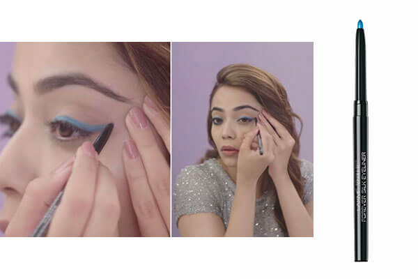 LOOK 3—DUAL WINGED EYELINER WITH POP OF COLOUR