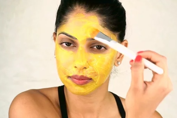 Turmeric and multani mitti