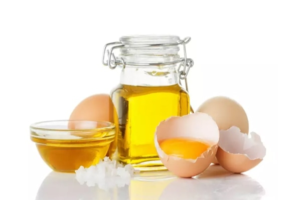 Egg and Almond oil