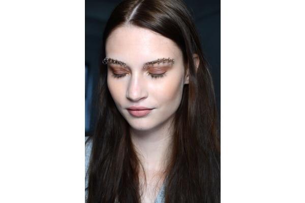Multiple brow piercings