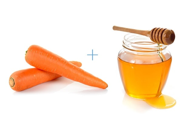 Carrot and honey face pack