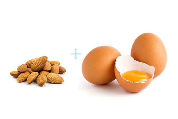 Almond and egg face pack