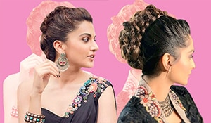 Here's how to work a faux mohawk French braid like a celebrity