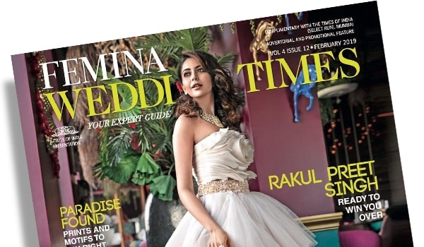 Rakul Preet's dreamy makeup look on the February cover of Femina Wedding Times