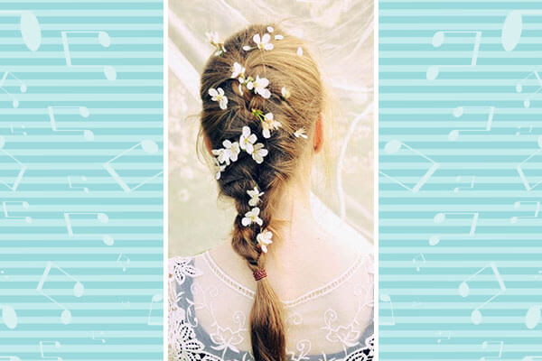 For medium length hair – you can't go wrong with flowers