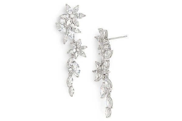 7. Floral Statement Earrings