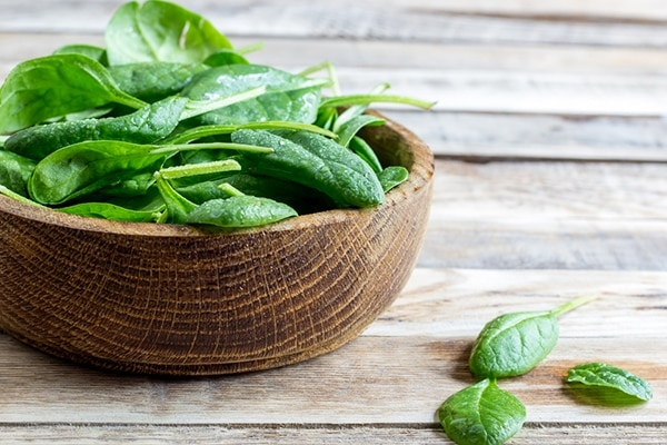 Spinach diet for healthy hair