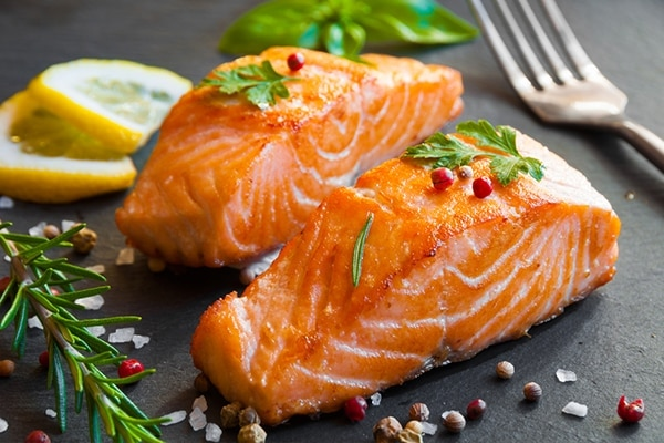 Salmon diet for healthy hair