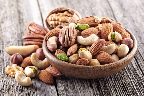 Nuts diet for healthy hair