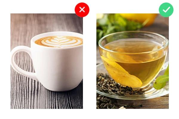 ये न पिएं: कैफ़ीन वाले पेय
