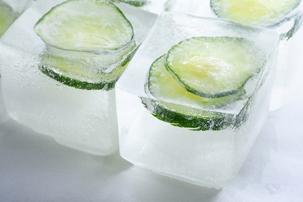 Cucumber and honey ice cleanser