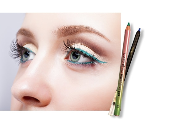 Ditch the black liner for a flattering colour