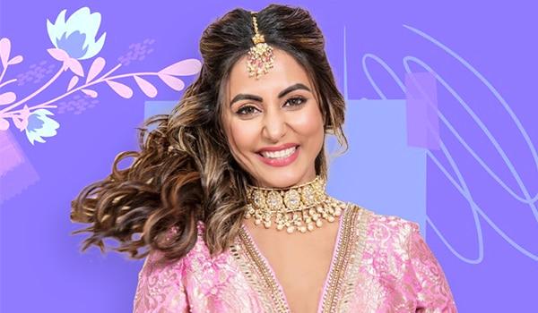 Get the look: Hina Khan's glam wedding guest makeup look