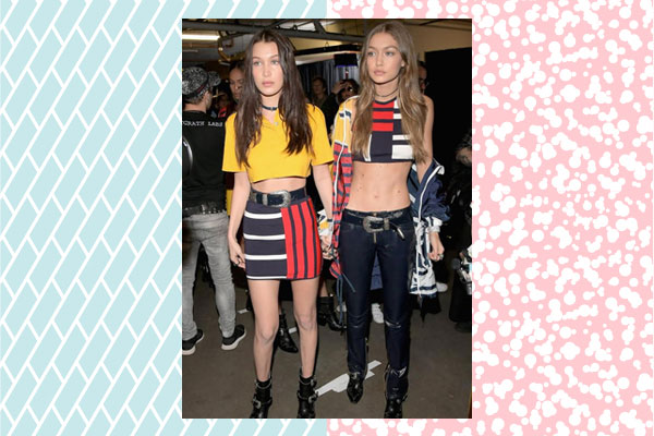 gigi bella hadid skirt looks