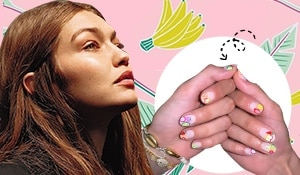 "This just in! Gigi Hadid's fruit nails are all the ""juice"" you need RN"