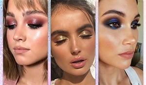 All the different ways to wear the latest makeup trend – glitter eyeshadow