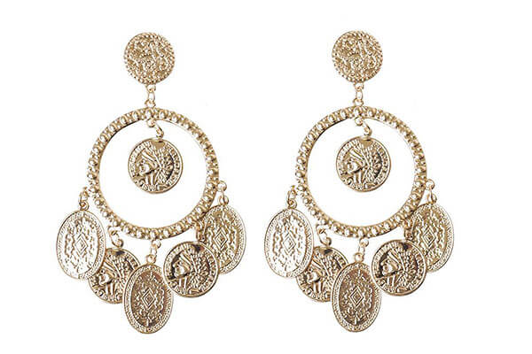 6. Gold Coin Jhumkas