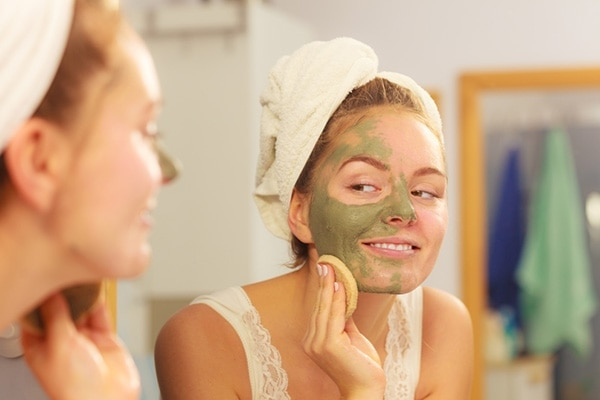 Try a green tea mask