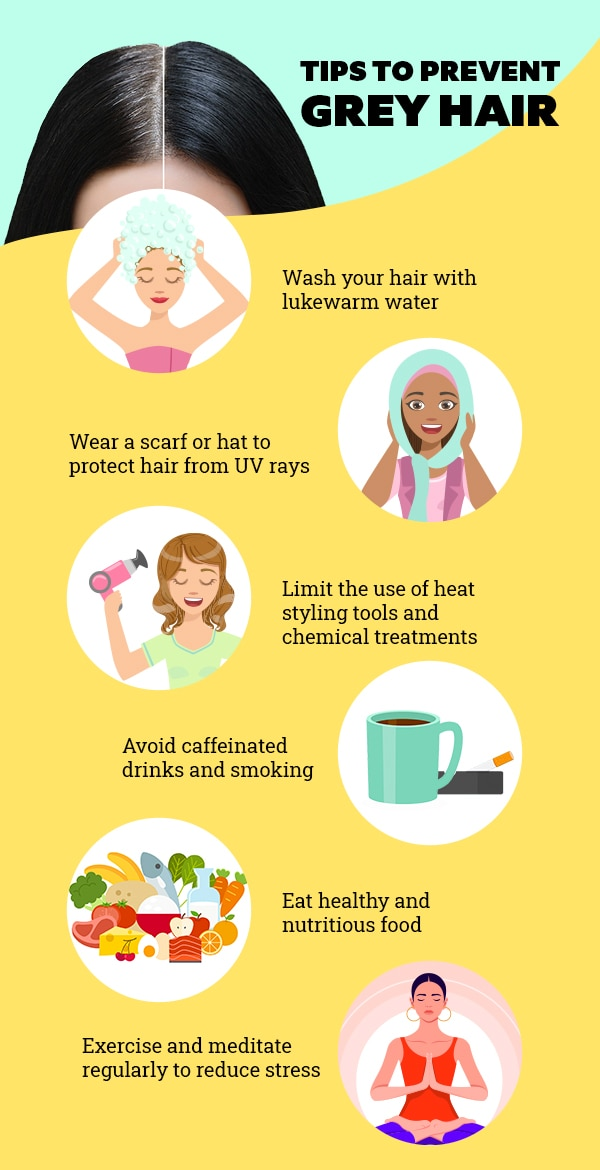 Tips to prevent grey hair