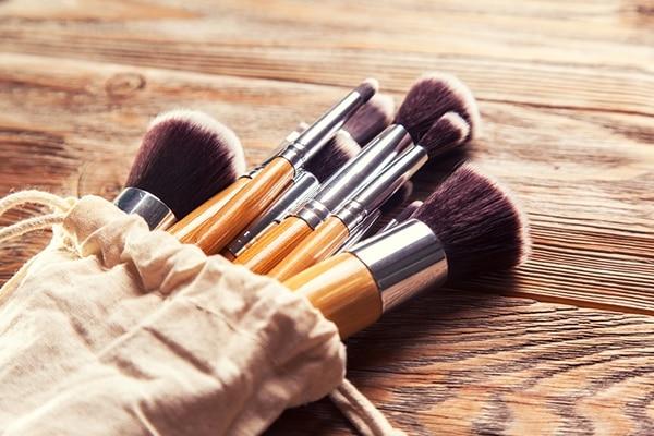 Makeup brush softener