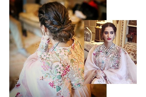 Sonam Kapoor Ahuja's twisty take on the classic low bun
